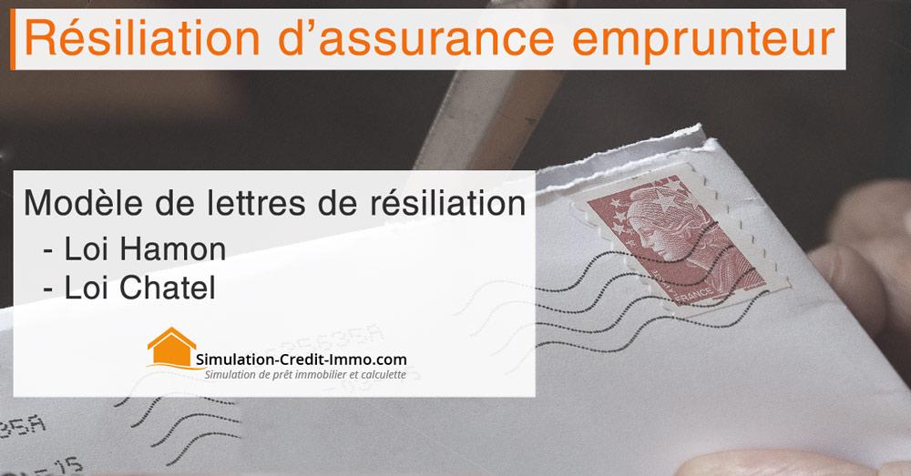 Lettre De Resiliation D Assurance De Pret Immobilier Sci